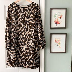 LOFT | Leopard Print Shift Dress